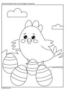 Birdie And Her Eggs Coloring Page