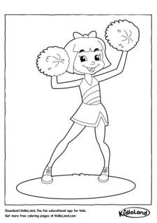 Cheerleader Coloring Page