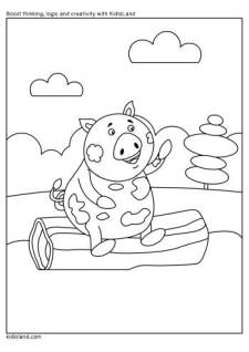 Playful Piggy Coloring Page