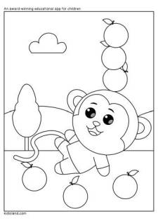 Playful Monkey Coloring Page