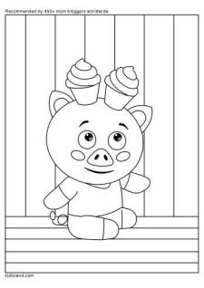 Fun Piglet Coloring Page