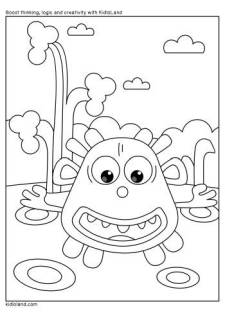 Playful Monster Coloring Page