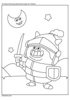 Warrior Coloring Page