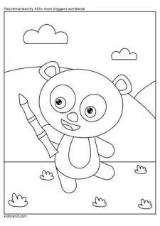 Little Panda Coloring Page