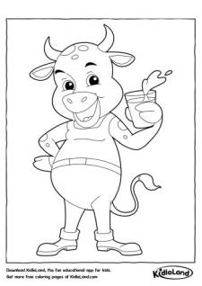 Happy Bull Coloring Page