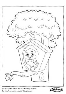 Bird in the House Coloring Page