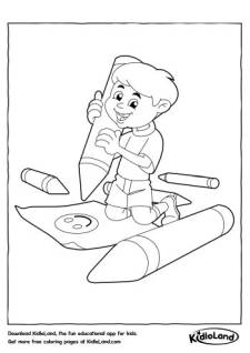 Artist Boy Coloring Page