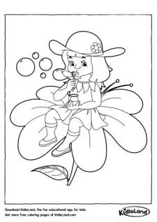 Girl on a Flower Coloring Page