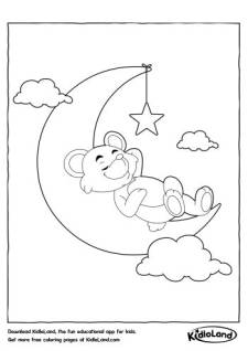 Sleeping on the Moon Coloring Pages