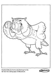 Binoculars Coloring Pages