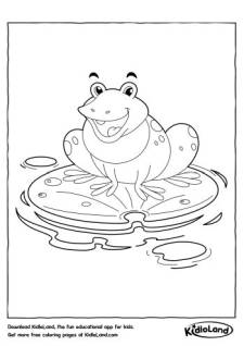 Frog on a Lilypad Coloring Page
