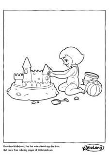 Sand Castle Coloring Page