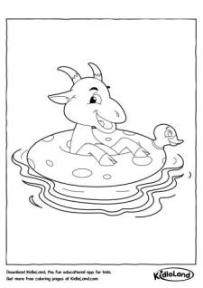 Swimming Bull Coloring Pages
