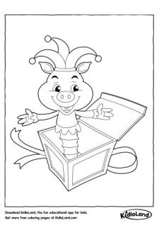 Jack in the Box Toy Coloring Page