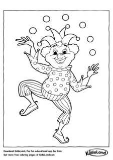 Juggler Clown Coloring Page