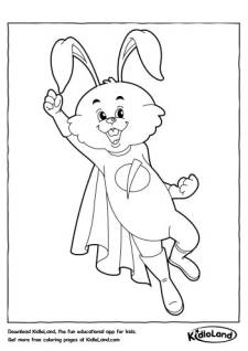 Superhero Bunny Coloring Pages