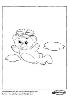 Flying Bear Coloring Page