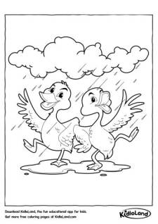 Dancing Birds Coloring Page