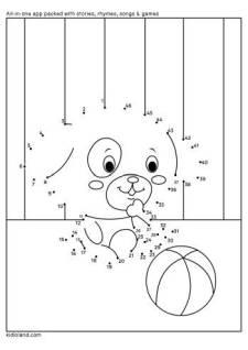 Dot To Dot Playful Bear