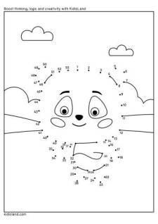 Dot To Dot Cute Panda