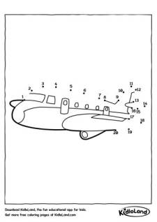 Dot To Dot Airplane