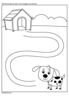 Dog And Dog House Maze