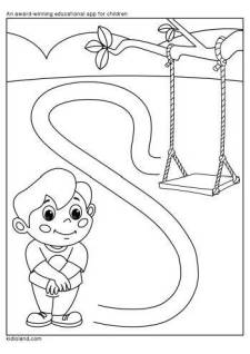 A Boy And Swing Maze